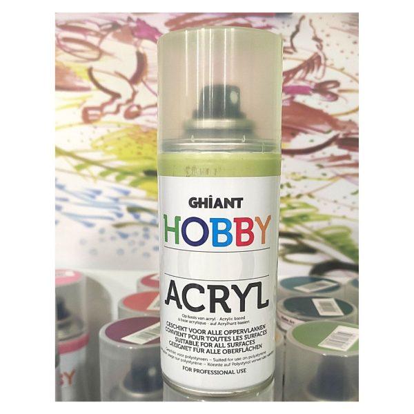 Ghiant Акриловая краска в аэрозоле Hobby, 150л, фисташковый.