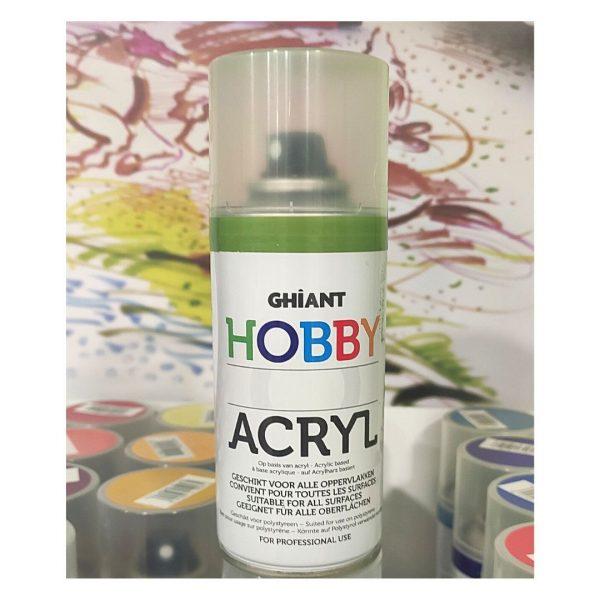 Ghiant Акриловая краска в аэрозоле Hobby, 150.мл, зеленый травяной