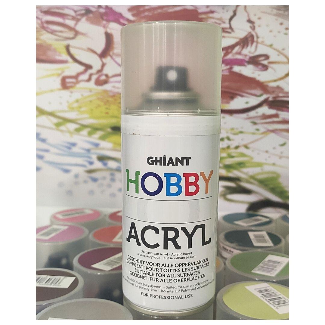 Ghiant Акриловая краска в аэрозоле Hobby, 150 мл, белый