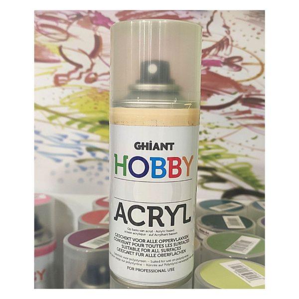 Ghiant Акриловая краска в аэрозоле Hobby, 150 мл, песочный.