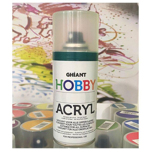 Ghiant Акриловая краска в аэрозоле Hobby, 150 мл, петролевый