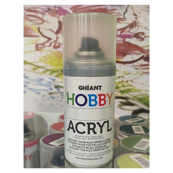 Ghiant Акриловая краска в аэрозоле Hobby, 150 мл, серый