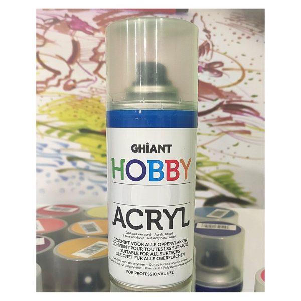 Ghiant Акриловая краска в аэрозоле Hobby, 150 мл, синий