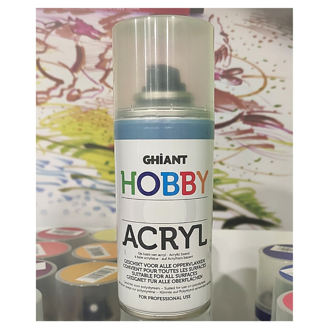 Ghiant Акриловая краска в аэрозоле Hobby, 150 мл, синий пастельный