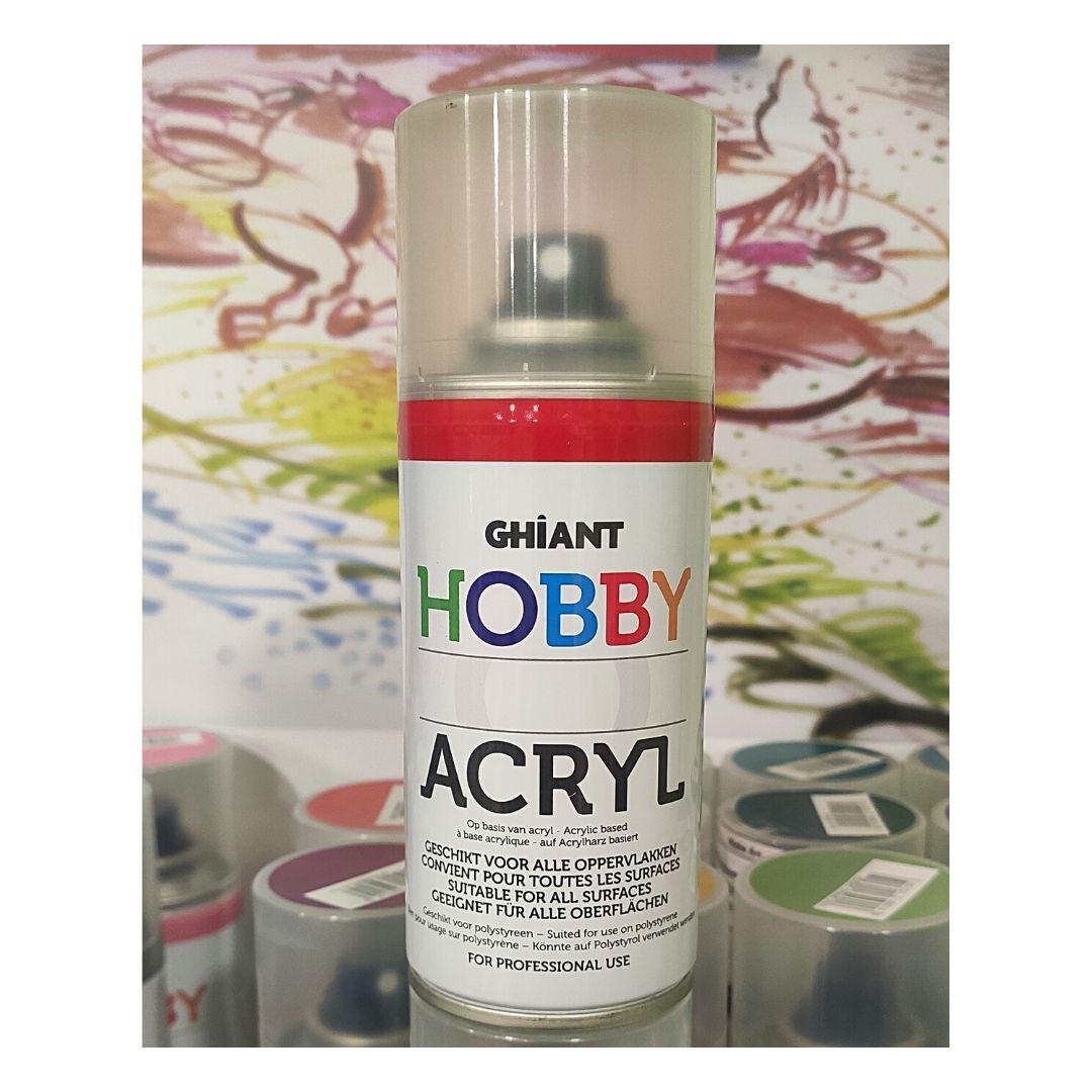 Ghiant Акриловая краска в аэрозоле Hobby, 150 мл, красный яркий