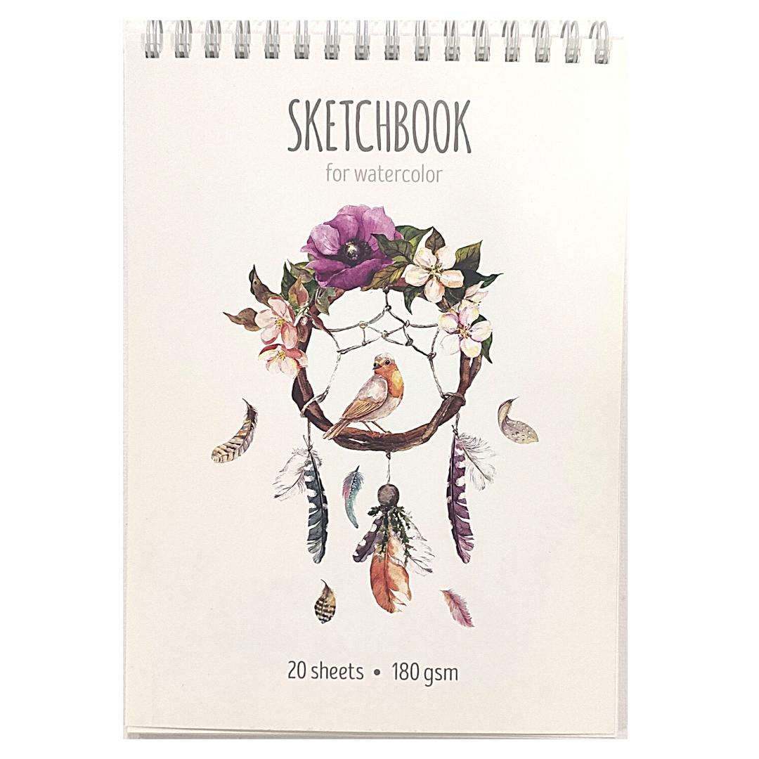 "Скетчбук-блокнот для акварели на гребне ""My favorite things"" А5, 20 листов, 180г/м2"