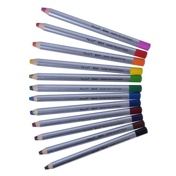 """Набор специальных карандашей """"3 в 1"""" Peroci, 12 штук."""
