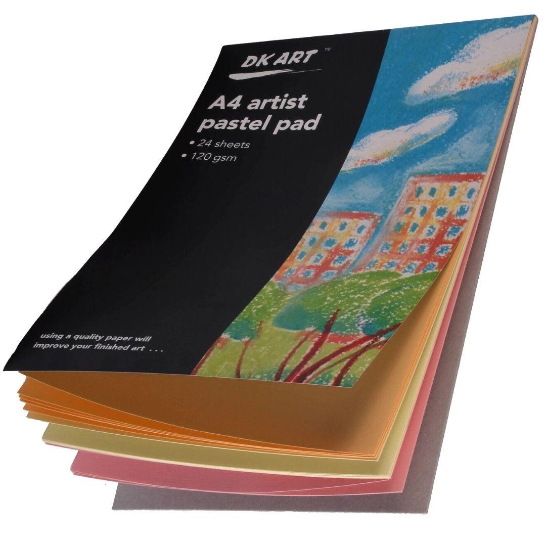 Альбом для пастели DK Art склейка, А4, 24 листа, ассорти.