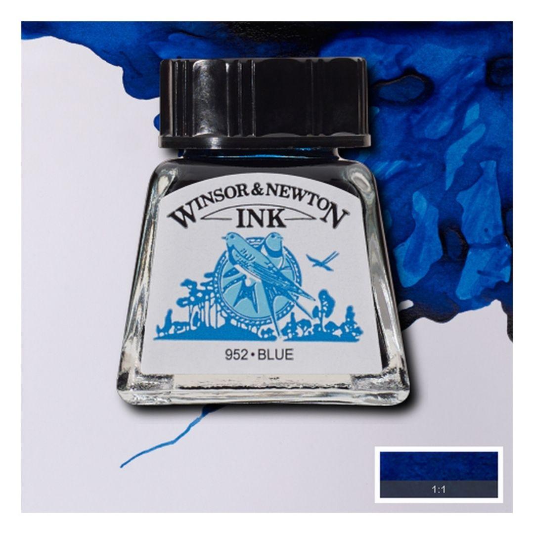 Тушь Winsor&Newton для рисования, синий, стекл. флакон 14мл
