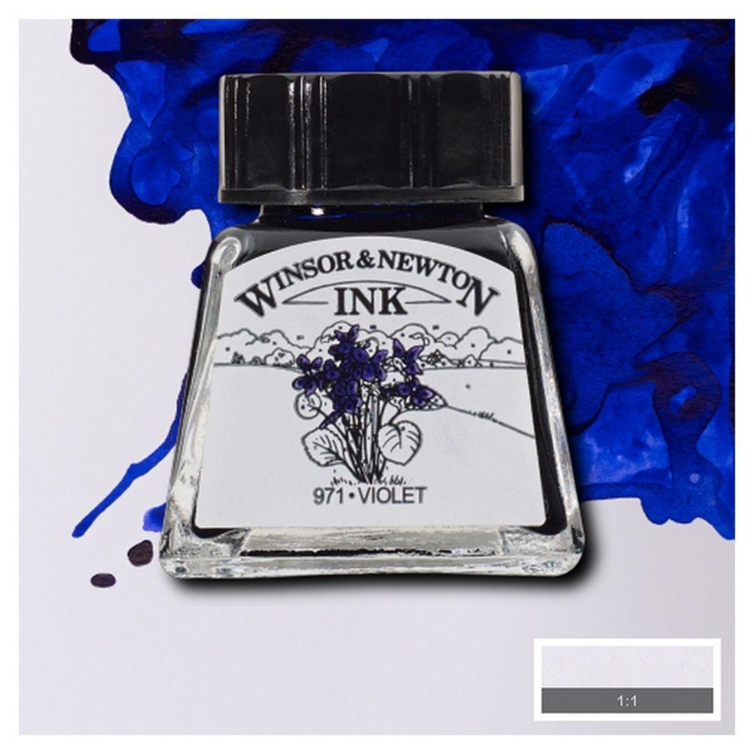 Тушь Winsor&Newton для рисования, фиолетовый , стекл. флакон 14мл