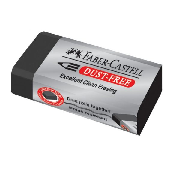 "Ластик Faber-Castell ""Dust-Free"", прямоугольный, картонный футляр, 45*22*13мм, черный"