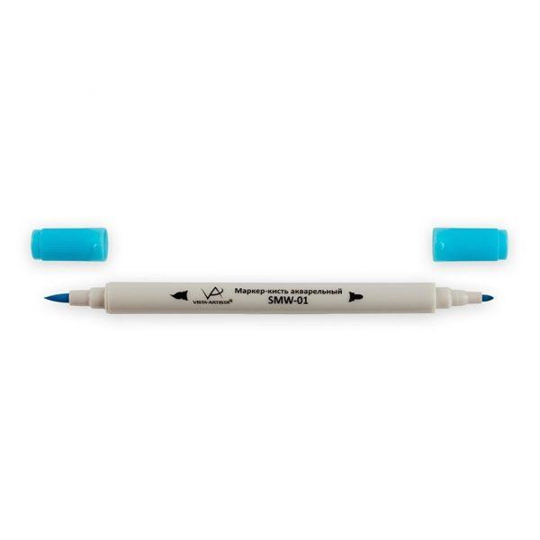 Акварельный маркер-кисть VISTA-ARTISTA G345, Светло-голубая бирюза