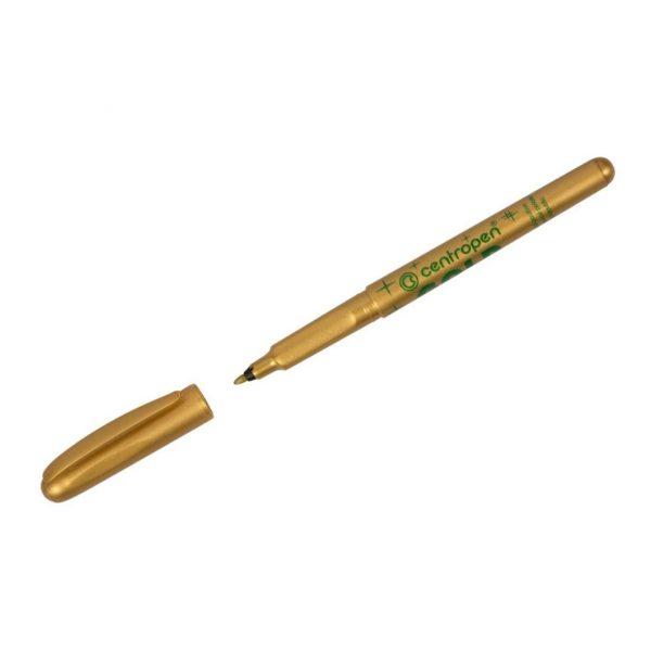 """Маркер для декорирования Centropen """"2670"""" золото, пулевидный,1мм."""
