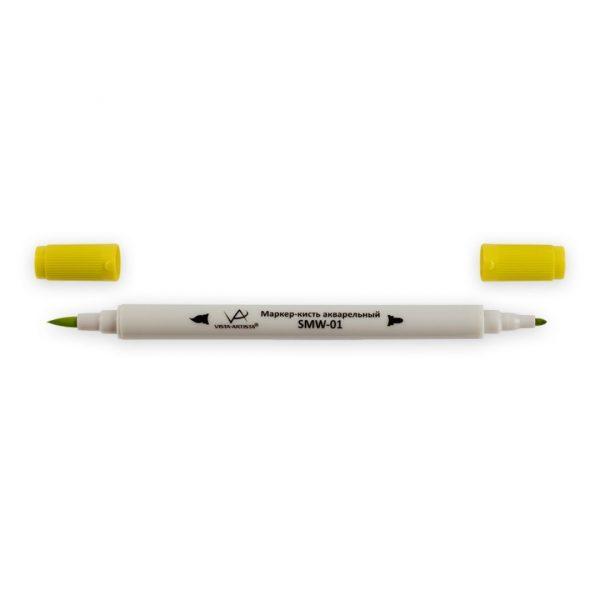 Акварельный маркер-кисть VISTA-ARTISTA J122 Желтый пастельный