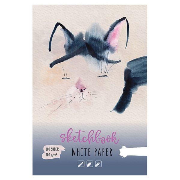 """Скетчбук """"Кошка спит"""" 100 листов, А5, 100 г/м2."""