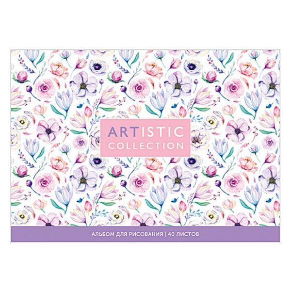 """Альбом для рисования на склейке """"Artistic collection"""" А5, 40 листов."""