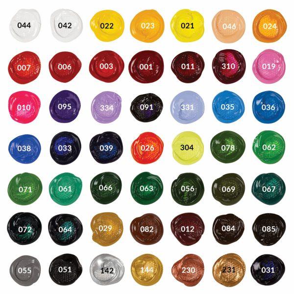 Набор акриловых художественных красок BRAUBERG ART CLASSIC, 49 цветов, 54 шт., 75мл.