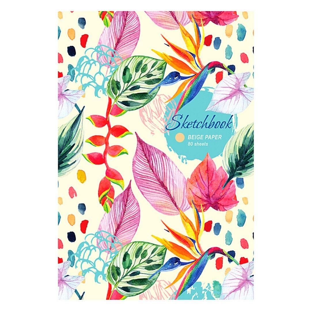 """Скетчбук """"Floral muse"""", бежевый блок А5, 80л."""