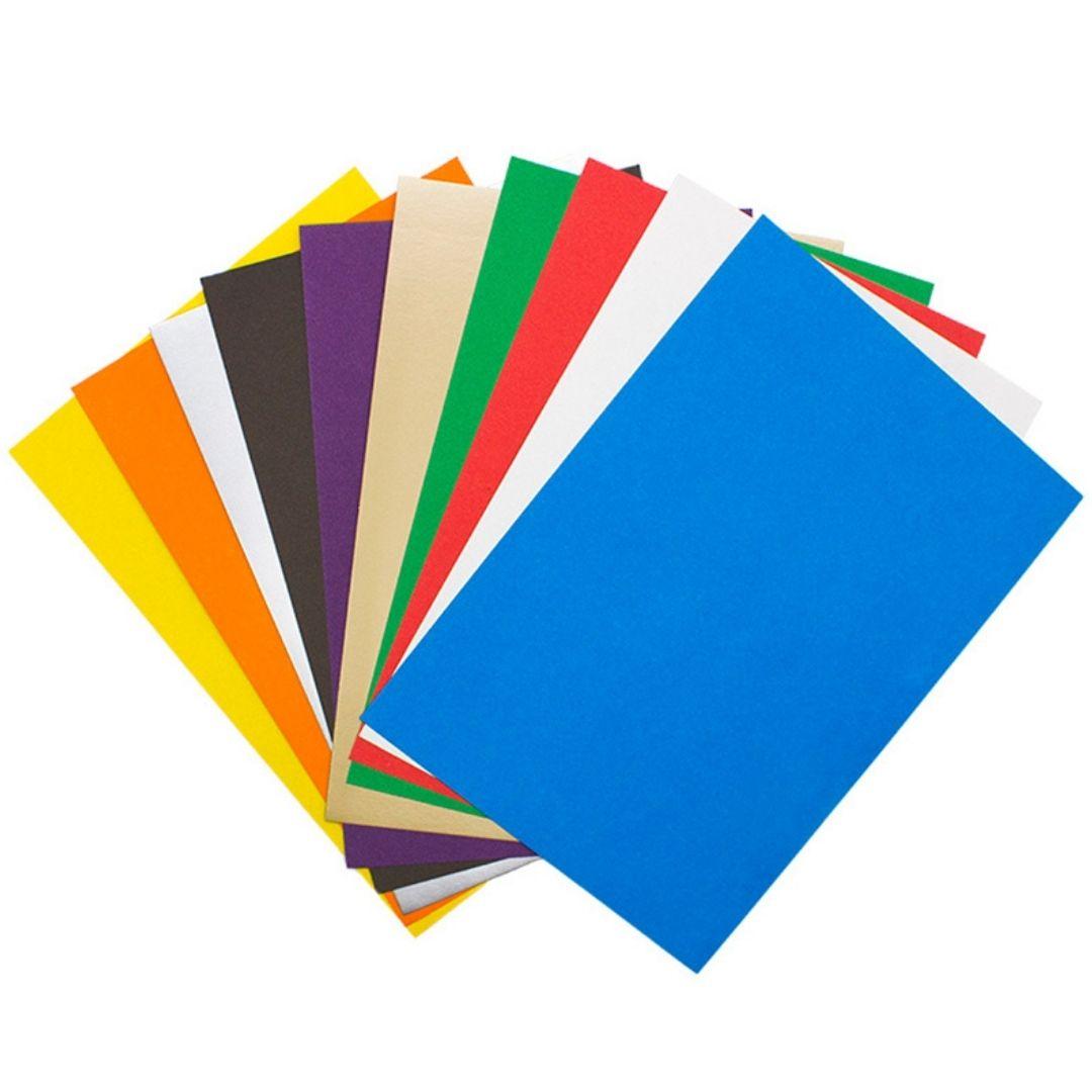 """Набор """"Волшебный цветной картон"""". Цветной картон и цветная бумага, А4."""